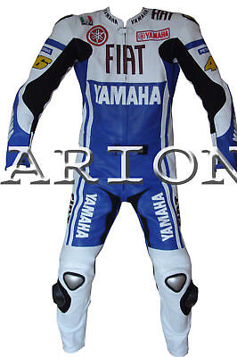 Top Quality 2 Piece Motorcycle / Motorbike Leather Suit - Rossi Motogp
