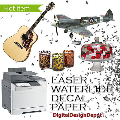10 sheets Premium LASER waterslide decal paper CLEAR