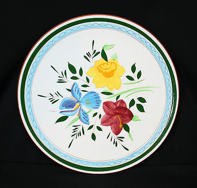 Stangl hand decorated floral plate