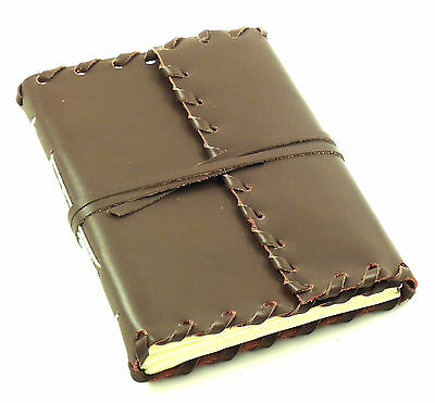 """GENUINE Leather Journal Diary Notebook Sketchbook Vintage Rustic HAND MADE 5x7"""""""