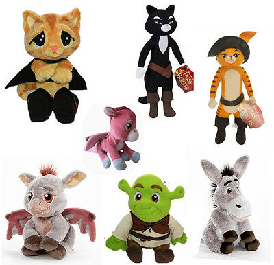 """Shrek series Puss In Boots Kitty Soft Paws Plush Character Doll 6-14"""" X'mas toy"""