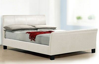 """*Brand New* Stunning 4Ft6"""" Double Faux Leather Bed Frame - Rrp£399"""