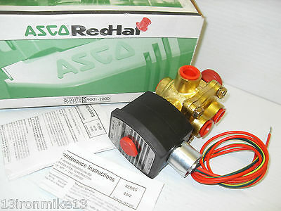 """*NEW IN BOX*  ASCO EF8342G003MS 4-WAY EXPLOSION PROOF SOLENOID VALVE 3/8""""120Vac"""