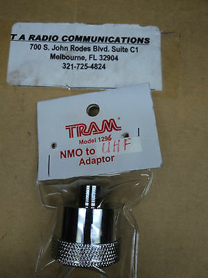 TRAM NMO to UHF Antenna Mount Adapter Model 1296 so-239 NMO to PL259 Connector