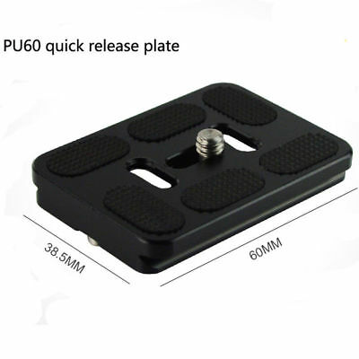 NEW Quick Release Plate PU-60 for Benro Arca Swiss Compatible tripod camera 5d2