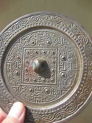 Genuine Cosmic TLV Chinese convex Bronze Mirror Han Dynasty, 206BC-220AD