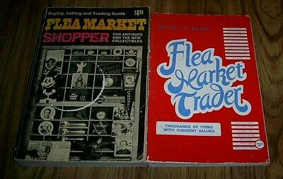 Two Books FLEA MARKET TRADER 1976-77 FLEA MARKET SHOPPER 1972 Paperbacks UNIQUE!