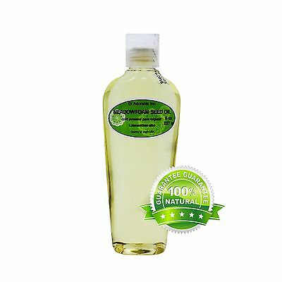 ORGANIC MEADOWFOAM SEED CARRIER OIL PURE COLD PRESSED 2 OZ 4 OZ -UP TO  7 LB