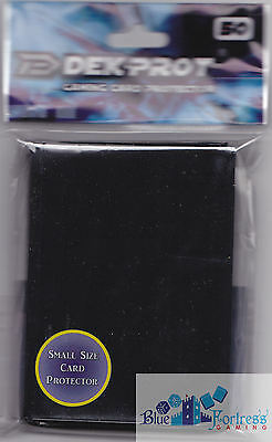 50 DEK PROT YUGIOH SIZED BLACK DECK PROTECTORS CARD SLEEVES FOR Yu-Gi-Oh!