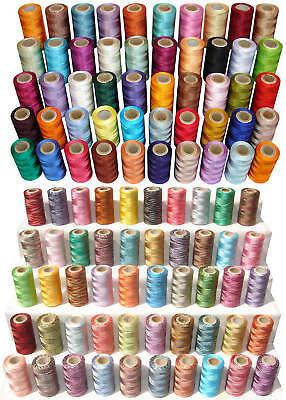 100 Solid/Variegated Spools of Rayon Embroidery Thread *Best Deal