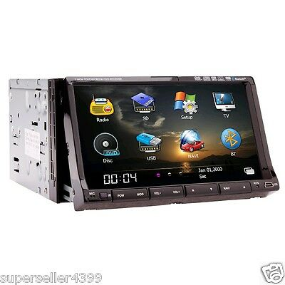 "Cool GPS Device 7"" InDash LCD Car Stereo DVD CD VCD Radio Player SWC Ipod BT PIP"