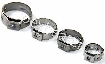 """(1000) PEX 3/4"""" Stainless Steel Ear Clamps Cinch Ring Clamp Crimp Pinch ASTM USA"""