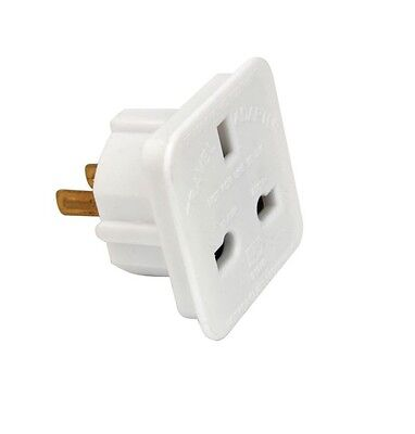 Uk To Usa Us America Travel Plug Power Mains Adapter White