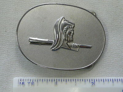 Belt Buckle With Viking On It