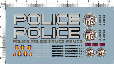 1/24 Decals LAPD POLICE HUMMER (5047)
