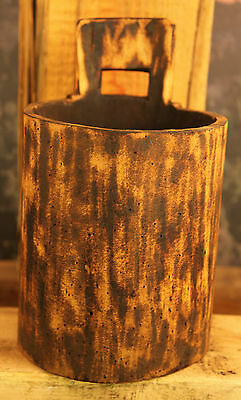 Large Antique Primitive Hand Carved Circa 1700's Wooden Container