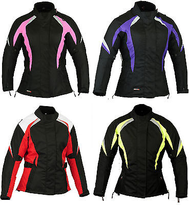 Ladies Motorbike Motorcycle Jacket Womens Wind/ Waterproof CE Protection Coat