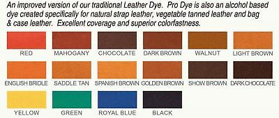 Fiebing's PRO DYE 4 Fl.OZ - ALL Colors  (Not for California customers )