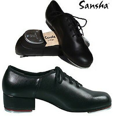 Sansha Ta08 T-Mega Oxford Style Unisex Tap Shoe With Taps Fitted In Full Leather