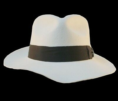 MICHAEL JACKSON White&Black Hats Smooth Criminal&Billie Jean Fedora 2PCS