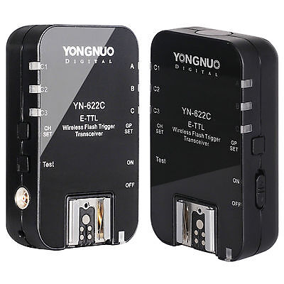 Yongnuo YN-622C Wireless TTL Flash Trigger for Canon 7D 7DII 5DII 5DIII 1DIV