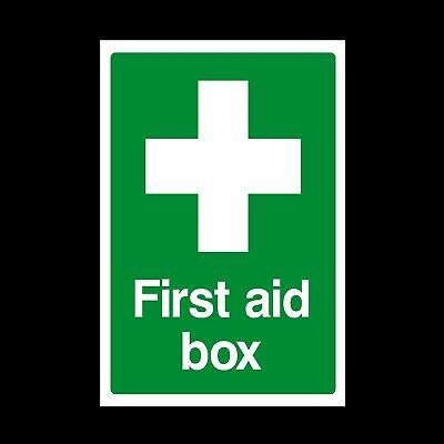 First Aid Box Plastic Sign or Sticker - A4, A5, A6, Free P+P (MISC7)