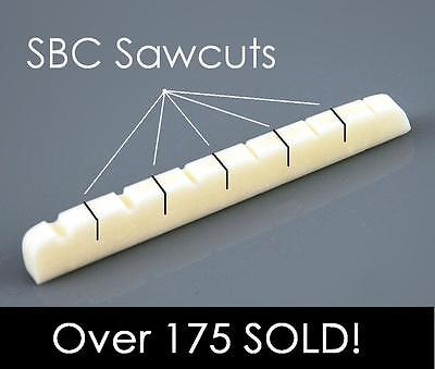 AxeMasters SB Concept SLOTTED BONE NUT made for Fender Guitar Strat Tele...