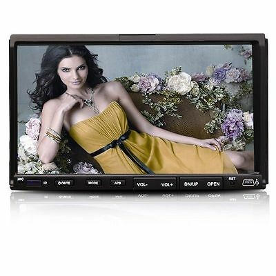 "USA HD 7"" Double 2Din Touch Screen Car CD DVD Player In Dash Stereo Radio USB SD"