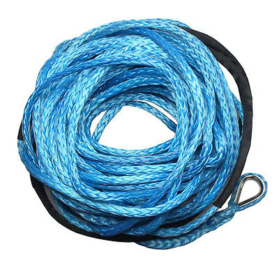 BLUE Dyneema 10mm x 40m SK-75 SYNTHETIC WINCH ROPE CABLE 4WD Recovery 4x4 ATV