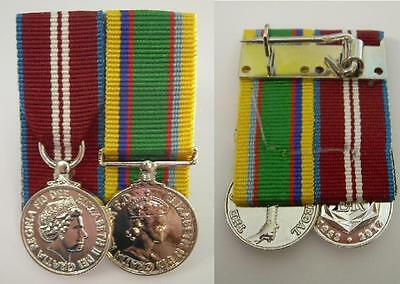 Queens Diamond Jubilee Medal & Cadet Forces Medal Court Mounted  Mini Medal Set