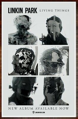 LINKIN PARK Living Things Ltd Ed Discontinued RARE New Poster +FREE Rock Poster!