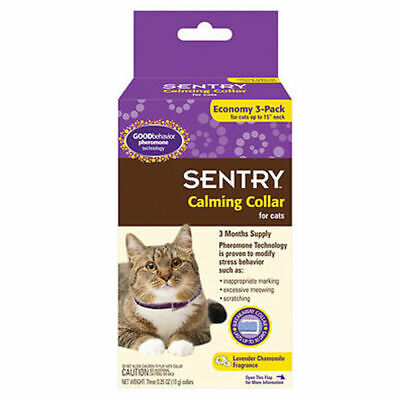 SENTRY 3 MONTHS Good Behavior Pheromone Calming Dog Cat Collar Anxiety Stress