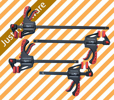 """2 x 300mm / 12"""" Quick Release Bar Clamp Clamps Spreader Vice Jaw"""