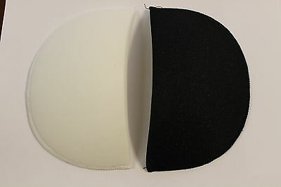 1 Pair of Shoulder Pads Available in Black & White - 3 Sizes to choose from