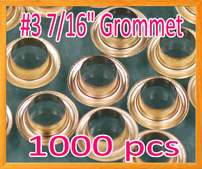 "1000 #3 7/16"" Grommet and Washer Brass Eyelet Grommets Machine Sign Punch Tool"