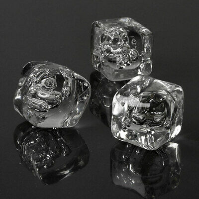 Acrylic Ice Cubes - Pack of 40 | Fake Plastic Ice Cubes, Display & Photography