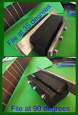 Fret End Bevel File. Dual Angle 90 & 35 degrees Diamond File Fret Beveling TF014