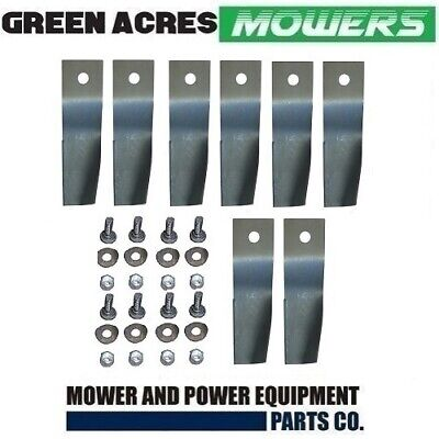 4 X Blade Kits For 28 Inch Cox Ride On Mower  8 X Blades And Bolts  Skit33