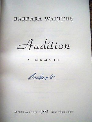 Barbara Walters Autographed 1st Editon Audition