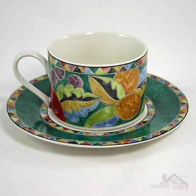 Interiors PTS International Genuine Stoneware Carmen Pattern Cup & Saucer Set