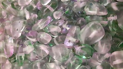 50g 4-7mm Green Purple Fluorite Stone Chip Beads K4818