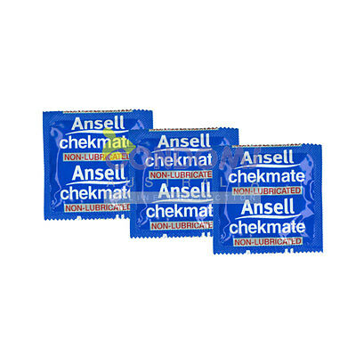 Ansell Chekmate Non-Lubricated 24 Condoms FREE SHIPPING