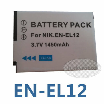 EN-EL12 Battery for Nikon Coolpix AW100 S1200pj S6200 Digital Cameras
