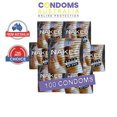 Four Seasons Naked Ribbed Condom (100 Condoms)