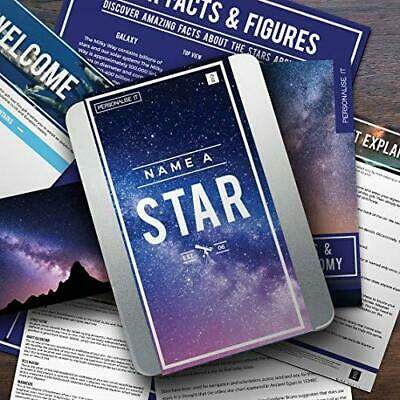 Personalise It Name A Star Gift Tin Astronomy Gift Luxury Gift Anniversary Set