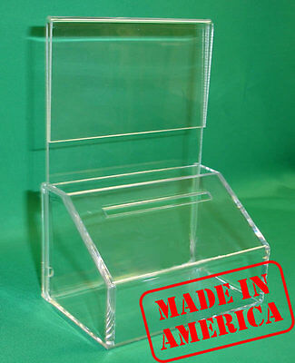 24 Fundraising Charity Donation Boxes With Sign Holders