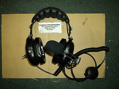 New HS7 Pro Radio Headset MOTOROLA Noise Canceling HEAVY DUTY - PTT - Metal Mic