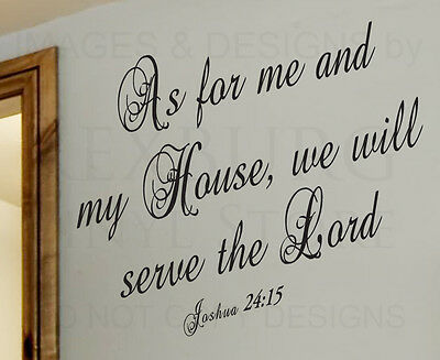 Wall Decal Sticker Quote Vinyl Decoration We Will Serve the Lord Religious R45