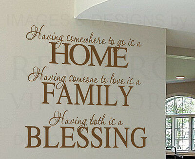 Wall Decal Sticker Quote Vinyl Having Somewhere to Go is a Home Family Love F72
