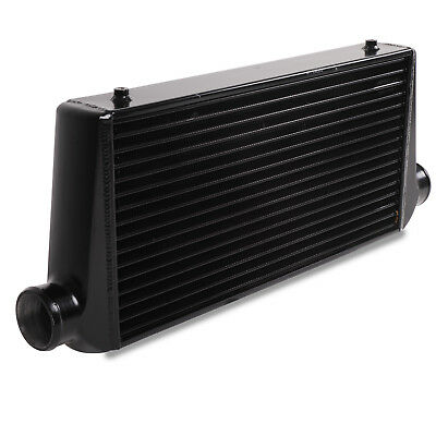 "3"" 76mm BLACK ALLOY UNIVERSAL CUSTOM DRIFT KIT CAR FRONT MOUNT INTERCOOLER FMIC"